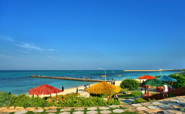 جاذبه های گردشگری کیش: ساحل مرجان کیش