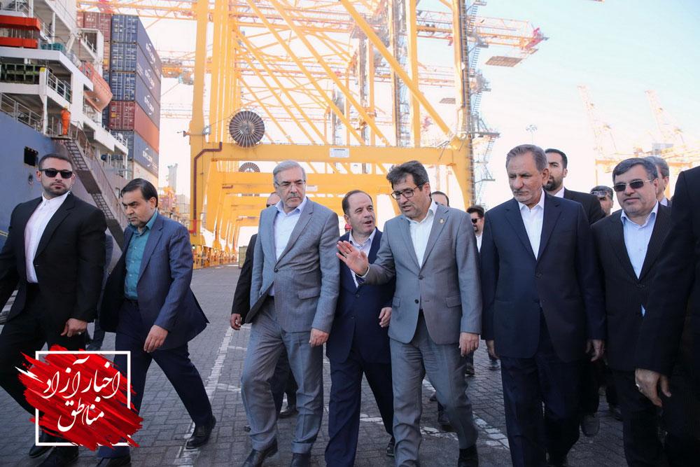 معاون اول رئیس جمهور در بازدید از طرح توسعه بندر شهید رجایی بیان داشت: هیچ محدودیتی برای واردات کالاهای اساسی وجود ندارد