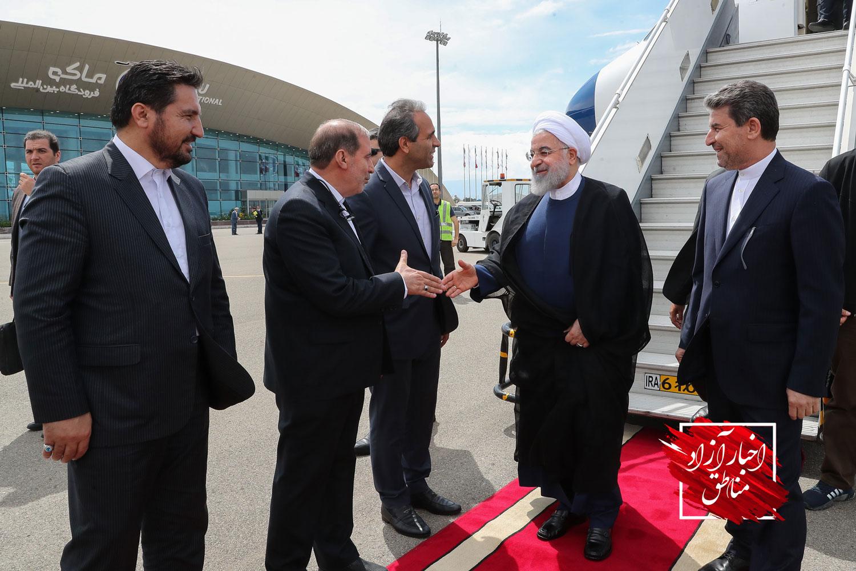 گزارش تصویری / ورود دکتر روحانی به شهرستان ماکو و آغاز عملیات آبگیری و بهرهبرداری از سد مخزنی کرم آباد پلدشت با حضور رئیس جمهور