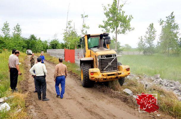 رفع تصرف بیش از ۲۵هزار متر اراضی ملی و نوار ساحلی منطقه آزاد انزلی