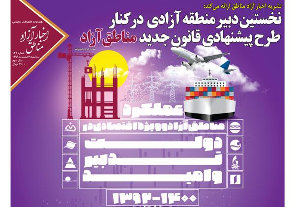 شماره۱۲۲ هفتهنامه اخبار آزاد مناطق